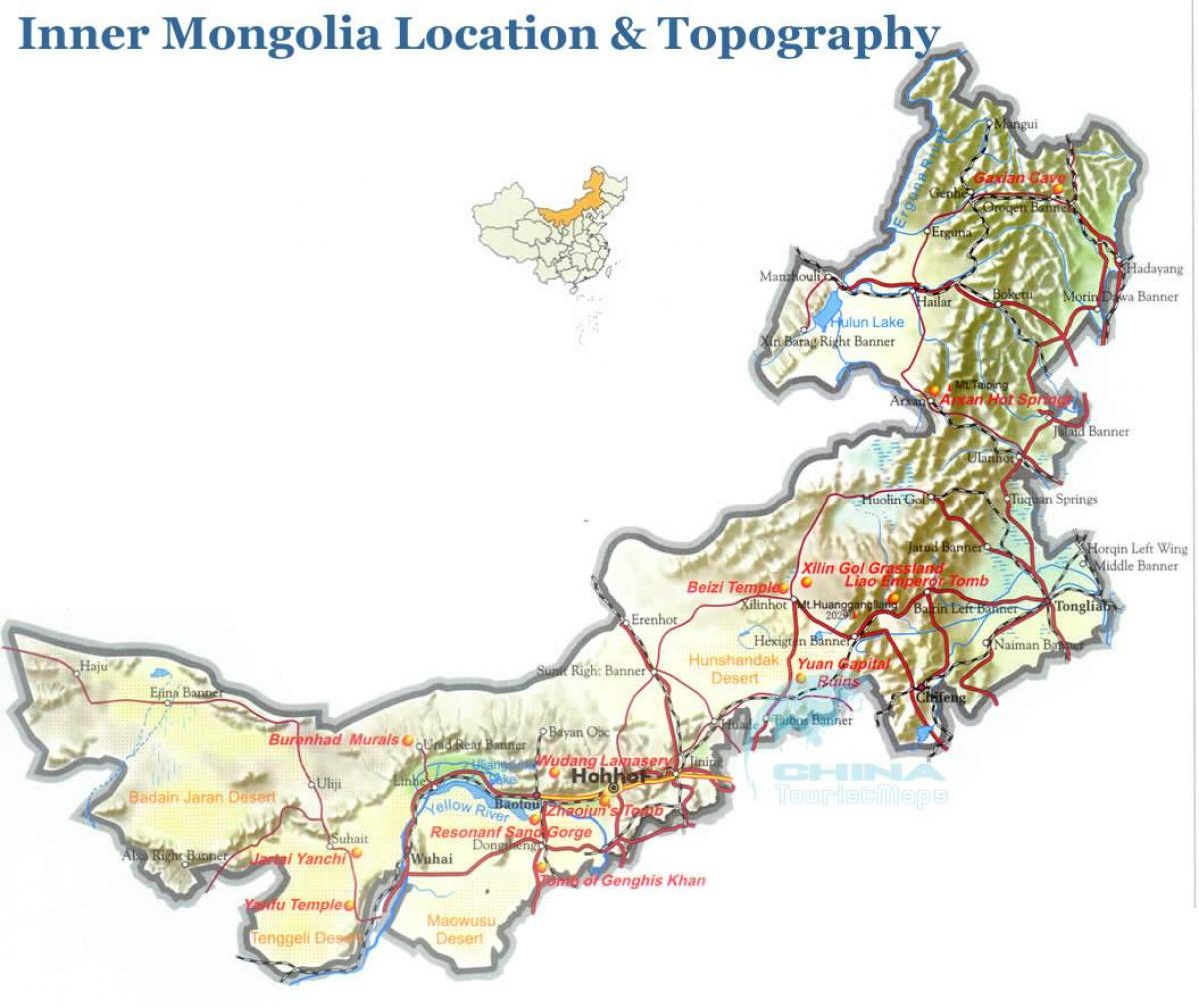 outer Mongolia map