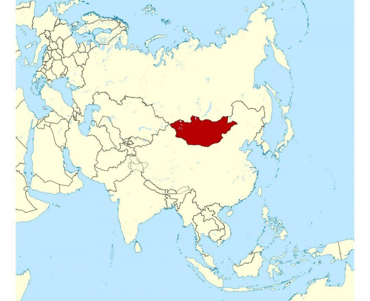 Mongolia location on world map - Location of Mongolia in world map ...