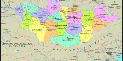 Mongolia map - Maps Mongolia (Eastern Asia - Asia)